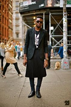 Real Men Wear Skirts Dress Man Skirt 2017 Fashion