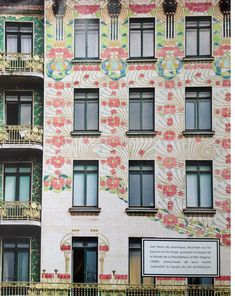 Art Nouveau apartment building in Vienna that blew my mind. It is called the Majolikahaus (aka Majolica House) designed by Otto Wagner in 1898 using majolica tiles to create stunning floral motifs. Scanned in photos from Marie Claire Maison // Photographer -- Jérôme Galland  via blackeiffel.blogspot.com