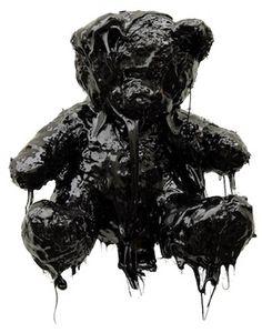 Teddy bear dipped in tar - Mattia Biagi