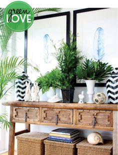 green + black + white {love} :: Adore Home Magazine - Blog