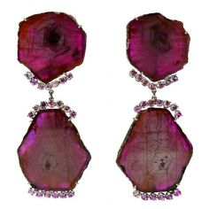 Awesome Ruby Diamond Gold Earrings  $7,200