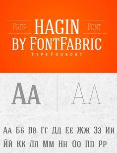 Hagin free serif font