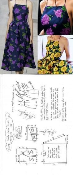 Vestido midi frente única decote reto – DIY – molde, corte e costura – Marlene Mukai