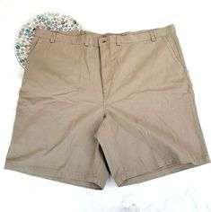 "Duck Head Mens Shorts Size 52 Beige Khaki Chino Flat Front 10"" 100% Cotton 1214 #DuckHead #KhakisChinos"
