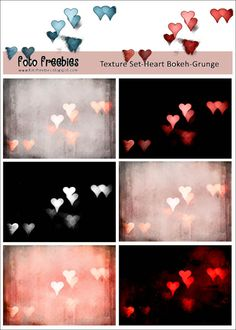 For Valentine's Day Creations! A Free Heart Bokeh Photography Texture Set Download from The Foto Freebies Blog.