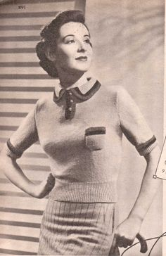 I'm sharing a pattern today from Weldon's Portfolio Of Ladies Fashion from 1938. free vintage knitting pattern 30s jumper
