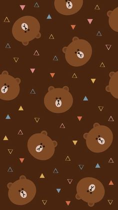 BROWN PIC is where you can find all the character GIFs, pics and free wallpapers of LINE friends. Come and meet Brown, Cony, Choco, Sally and other friends! Cute Patterns Wallpaper, Lines Wallpaper, Brown Wallpaper, Phone Background Patterns, Bear Wallpaper, Cute Wallpaper For Phone, Locked Wallpaper, Kawaii Wallpaper, Aztec Wallpaper