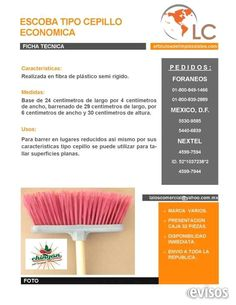 Escoba tipo cepillo económica  Escoba tipo cepillo económica Princesita  Escoba para barrer tipo cepillo de plástico económica ...  http://iztacalco.evisos.com.mx/escoba-tipo-cepillo-economica-id-617188