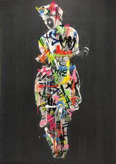 Martin Whatson Spray Paint On Canvas, Spray Painting, Something Beautiful, Urban Art, Giclee Print, Stencils, Graphic Design, Statue, Artist