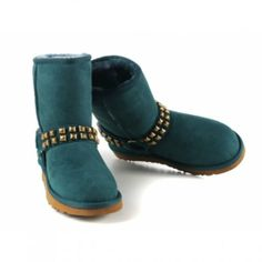 Amazing Design Cheap Womens UGG Classic Short Dark Green Boots