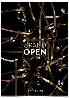 Shinsegae Renewal on Behance Grand Opening Banner, Email Marketing Design, Email Design, Poster Design Layout, Advertising Techniques, Pop Design, Graphic Design, Campaign Posters, Sale Banner