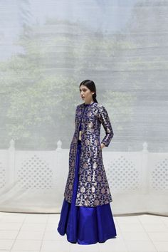 Sanjay Garg lookbook by photographer Prarthna Singh. The collection marks the debut of the eponymous signature line by the Raw Mango designer, a stunning array of richly coloured garments in Varanasi kadwa brocade with vibrant detailing.