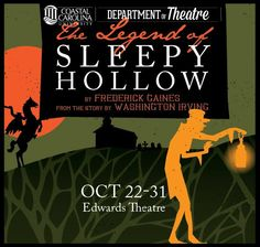 October 22 - 31, 2015 Edwards Theatre  In the quaint village of Sleepy Hollow, stories of wonder and strangeness surround the legend of a headless Horseman. When the humble schoolteacher Ichabod Crane vies for the hand of the beautiful Katrina Van Tassel, the townsfolk might protest, but it is ultimately the Horseman who will decide his fate. The whole family will enjoy this spooky Halloween treat.  Purchase tickets:  https://www.ticketreturn.com/prod2/team.asp?SponsorID=7931#.VhHkOkuJN7p