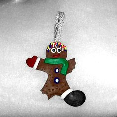 Eaten gingerbread man Christmas tree Decoration  by Wishcraft2013, £3.00