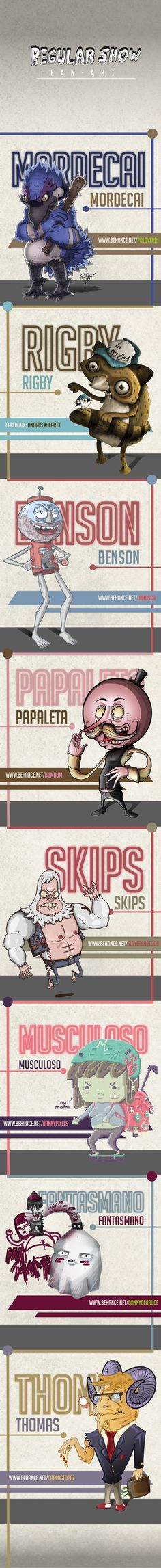 Regular Show / FAN - ART. on Behance multiple owners