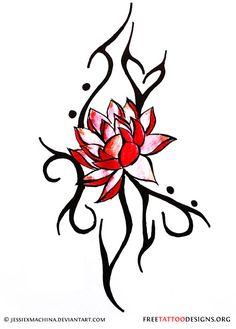 Japanese Lotus Tattoo Design | Pin Pin Lotus Tattoo Maori Tribal Asian Japanese Tattoos On Pinterest ...