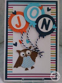 KIT's Cards: juni 2015 It's a Boy, Stampin' Up!, Owl Punch, Newborn, BabyBoy