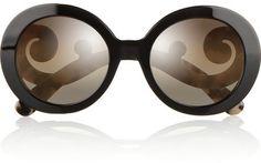 Prada Round-frame acetate sunglasses on shopstyle.com