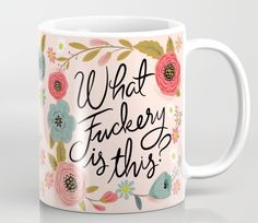 Pretty Swe*ry: Zero Fs given Coffee Mug by CynthiaF - 11 oz Coffee Love, Coffee Cups, Tea Cups, Coffee Talk, Coffee Coffee, Funny Mugs, Funny Coffee, Mug Shots, Mug Cup