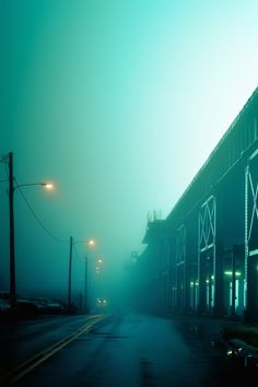 Sixpenceee Aesthetic — In between fog and rain. Via Riri Khoury Rainbow Aesthetic, Aesthetic Colors, Mint Green Aesthetic, Misty Night, Turquoise, Nocturne, Night Photography, Photography Basics, Scenic Photography