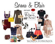 Serena and Blair Chloe Isabel, Judith Leiber, Olivia Burton, Giambattista Valli, Balmain, Moschino, Jimmy Choo, Polyvore Fashion, Marc Jacobs