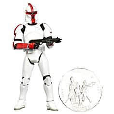 Wal-Mart.com USA LLC  Clone Trooper Officer Action Figure Yellow Trim Star Wars