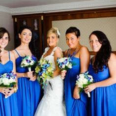 Blue and White Wedding Ideas - Bridesmaid Dresses | Real Weddings | Guides for Brides