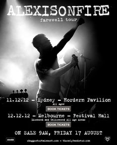 Alexisonfire - 2012 ~ last show tonight, Dec 2012 :( Tour Posters, Movie Posters, Festival Hall, Ill Miss You, Great Bands, My Life, Tours, Memories, Concert