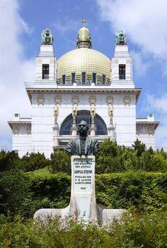 St Leopold church, Am Steinhof, O. Wagner, Vienna