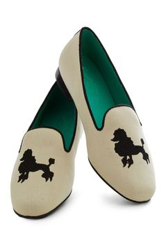 Poodle loafers! This dog-loving girl couldn't resist purchasing these. via @Janine Hardy Kahn   @Dogster & Catster & Catster & Catster