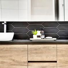 Whether you are looking for playful, laid-back look, our Kite Collection offers something unique for any project. Feature Tiles, Kite, Double Vanity, Ceramics, Unique, Projects, Collection, Ceramica, Log Projects