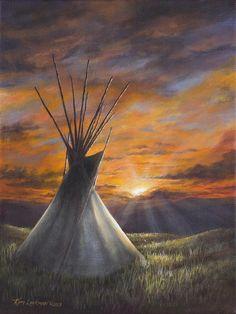 Prairie Sunset Painting by Kim Lockman