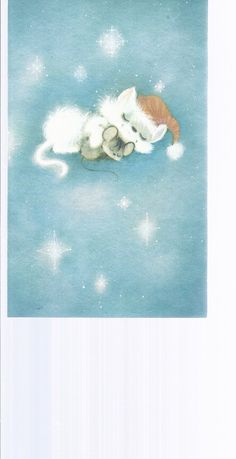 C303 Vintage Christmas Greeting Card by Hallmark Cat by jarysstuff,