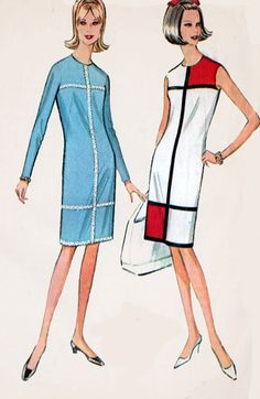 1960s Vintage Sewing Pattern McCall's 8126 Mod 60's by sandritocat