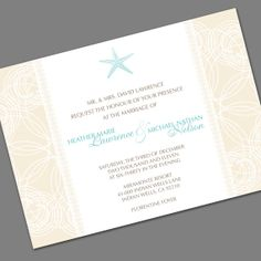 If you maybe want to go with a beach theme... Printable Invitation for Wedding / Shower / Birthday - Summer Beach