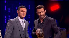 Hugh Jackman and Luke Evans Have a 'Gaston' Sing-Off Hugh Jackman, Luke Evans Singing, Gaston, Cute Guys, Beauty And The Beast, Handsome, It Cast, Marvel, Actors