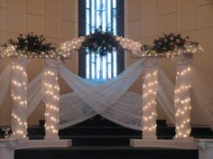 how to make lighted wedding columns homemade - Google Search