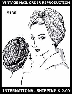 Pattern SEXY Hat TURBAN MAIL ORDER 5130 Crocheted Crocheting Crochet Jewel CHEMO #MAILORDER5130