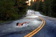 #ridecolorfully but watch out for swimmers on the road.