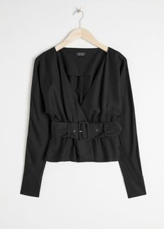 3f4cd08ba Front image of Stories in black Brand Story, Shirt Blouses, Shirts, Wrap  Blouse