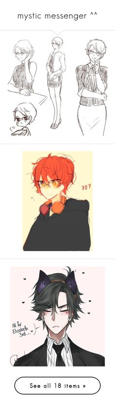 """""""mystic messenger ^^"""" by illumi-naughty ❤ liked on Polyvore"""
