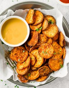 Baked Sweet Potato Chips Recipe          Sweet potato chips  are a great healthy side dish that can go with just about anything! They are so easy and so much better than store-bought (deep fried) chips. This  Baked Sweet Potato Chips Recipe  is a go to for a fun and delicious but HEALTHY side dish. These  Sweet Potato Chips  are coated with a delicious spice blend and then baked and not fried.    Continue reading Baked Sweet Potato Chips Recipe at TheDirtyGyro.    http://thedirt..