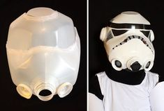 Storm trooper helmet from milk jug