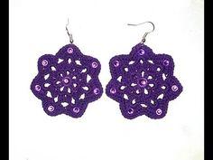 DIY TUTORIAL orecchini uncinetto MEDEA How to crochet earrings ENG/ITA - YouTube
