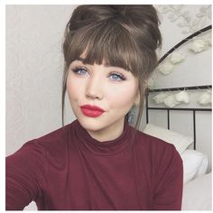Gina is loving our Cleo Bangs in the shade Ash Brown! Show some fringe love to your hair now!