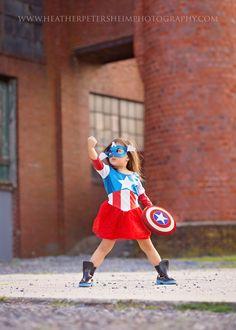 Superhero photoshoot Captain America www.heatherpetersheimphotography.com Berks County, PA Child Photographer