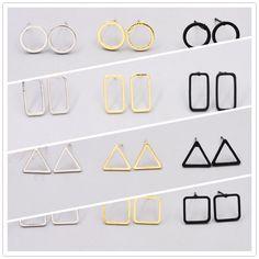 Nueva joyería de moda lindo fácil Geométrico perno de cobre de regalo para las mujeres chica 1 lote = 2 pairs E3092