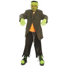 Make this kid's Frankenstein's monster costume - Using finds from your local #Goodwill store makes it a bargain! www.goodwillvalleys.com/shop/ #Halloween Halloween Shirts Kids, Cute Halloween Costumes, Scary Halloween, Halloween 2017, Homemade Halloween, Halloween Activities, Halloween Stuff, Halloween Crafts, Halloween Party
