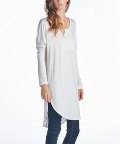 Look what I found on #zulily! Paolino Ivory Long Tunic - Women & Plus by Paolino #zulilyfinds