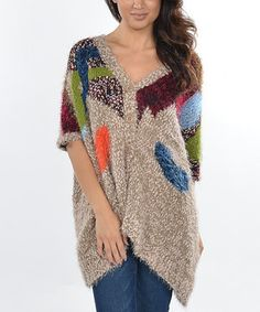 This Tan & Blue Abstract Cardigan by Ami Sanzuri is perfect! #zulilyfinds